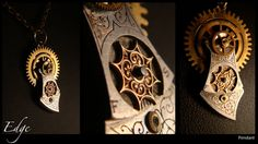 EDGE Unisex Steampunk pendant by AbsyntheDesign on Etsy, $30.00