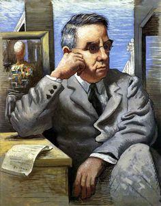 Giorgio de Chirico, Portrait of Dr. Albert C. Barnes, 1926 - Courtesy The Barnes Foundation, Philadelphia - Homa Nasab for MuseumViews - American, Art Collector, Businessman, Investor