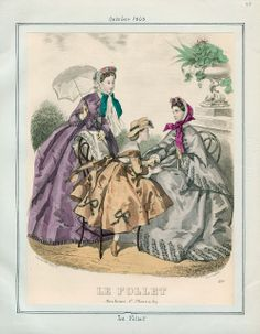 In the Swan's Shadow: Le Follet, October 1863. Civil War Era Fashion Plate
