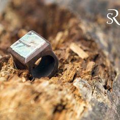 Handmade #wooden #ring #ceviz #sedef #organik #ağaç