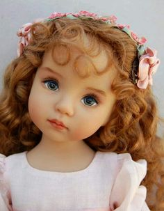 What a pretty and realistically cute doll! Dianna Effner Little Darling Hand Painted Collector by Kuwahidolls Reborn Dolls, Reborn Babies, Blythe Dolls, Barbie Dolls, Doll Toys, Dolls Dolls, Pretty Dolls, Cute Dolls, Beautiful Dolls