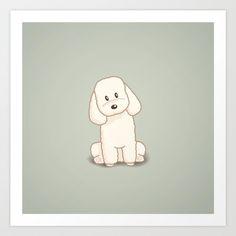 Toy Poodle Dog Illustration Art Print by Li Kim Goh | Society6