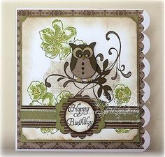rozzybee: Stampin Up 'Everything Eleanor' & Owl Builder Punch