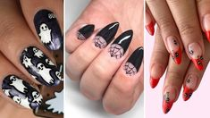 28 Creative Halloween Nail Art Ideas for Every Length 28 Halloween Nail Art Ideas Cute Halloween Nail Designs Cute Halloween Nails, Halloween Nail Designs, Spooky Halloween, Orange Nails, Green Nails, Helloween Make Up, Halloween Symbols, Green Nail Polish, Salon Art