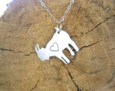 Mini Goat with Heart Eco Friendly necklace