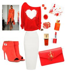 sweet orange by Diva of Cake  featuring polyvore fashion style Rick Owens Givenchy J.W. Anderson Chico's Loren Hope Clinique Kate Spade Yves Saint Laurent sass & bide clothing