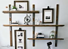 Rustic Industrial Shelves by Sawdust2stitches 5