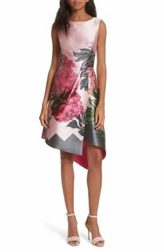55fdc4558bbc82 Ted Baker London Palace Garden Faux Wrap Dress Ted Baker Fashion