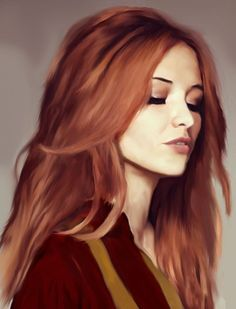Lily Evans (wearing James' quidditch vest, obviously). Pinned by @lilyriverside