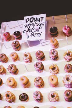 wedding, donut wall, wedding donuts