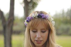 Corona de flores en degradados lila. por TheLittleNemo en Etsy