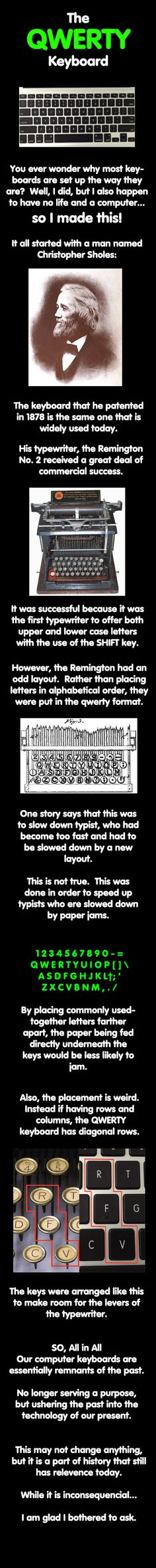 Why Are QWERTY Keyboards Made The Way They Are? [Pic]