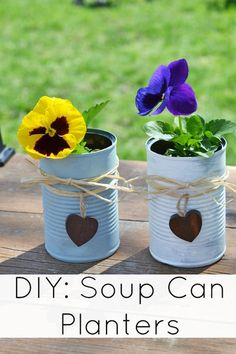 Celebrate Earth Month with These DIY Tin Can Planters & Some Natural Products #NaturalGoodness #ad