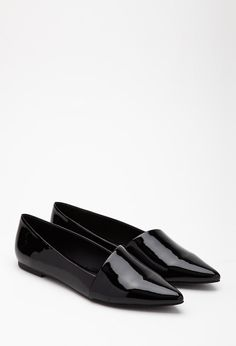 Faux Patent Leather Flats | FOREVER21