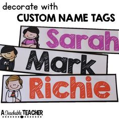 Editable name tags for school Printable name tags templates elementary name tags back to school ideas for teachers elementary get to know you activities primary get to know you teaching ideas beginning of school year ideas first day of sch Name Tag For School, Back To School Teacher, Beginning Of School, School Stuff, Kindergarten Reading, Teaching Reading, Teaching Ideas, Kindergarten Rocks, Learning