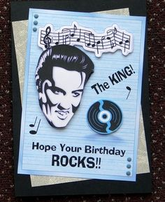 Birthday card goth metal rock skull emo removable tibetan silver the king elvis presley card front by giselle topper bookmarktalkfo Images