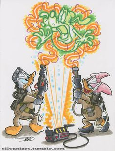 Donald, Daisy and Goofy - Ghostbusters mashup by James Silvani