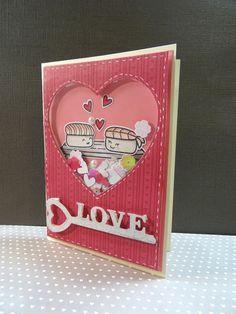 "Scrap et Carte: Carte de St Valentin n°1  ""Sushi"""