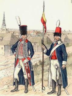 Ufficiale e cavaliere bosniaci al servizio della Prussiani
