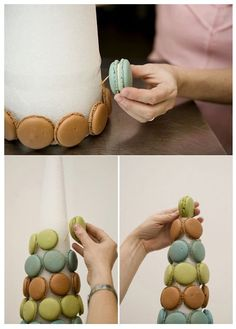 faire sa pièce montée macarons