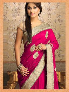 Akshara-Hina Khan Georgette Pink Saree|Saree|Ethnic Wear