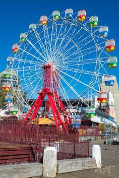 Ferries Wheel at Luna Park Sydney by garyncy Luna Park Sydney, Clowning Around, Melbourne, Carnival, Ferris Wheels, Fair Grounds, Roller Coasters, Australia, In This Moment