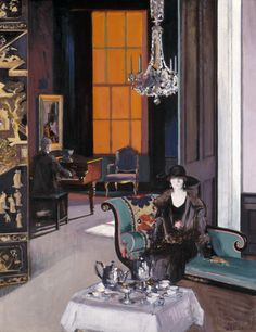 Francis Campbell Boileau Cadell, Interior - The Orange Blind, circa 1927