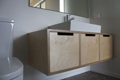 Plywood furniture has a distinctive look. Plywood furniture is any type of furniture made from plywood, which is a prefabricated material made up of thin layers. Plywood Furniture, Steel Furniture, Cabinet Furniture, Bathroom Furniture, Bathroom Interior, Modern Bathroom, Small Bathroom, Diy Furniture, Furniture Design