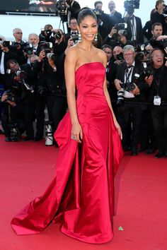Chanel Iman in Donna Karan Atelier | Youth premiere, Cannes Film Festival 2015