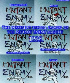 The different special images of the Mutant Enemy Mascot - Whedonverse, Buffy the Vampire Slayer Spike Buffy, Buffy The Vampire Slayer, Buffy Summers, Special Images, Firefly Serenity, Joss Whedon, Geek Out, The Vamps, Best Shows Ever