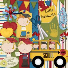 Digi scrap kit perfect for Pre-School/Kindergarten Graduate