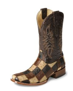 mens smooth ostrich patchwork boot i would so wear these