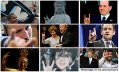La mano cornuda es un símbolo de reconocimiento entre los ocultistas. Cuando ellos están apuntando a alguien con el pulgar sobre los dedos y dada por la mano izquierda, están destinados a colocar una maldición. El Señor los reprenda!