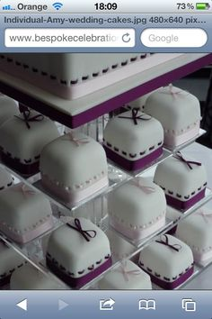sissy... petit fours wedding cake!! perfect for you! @Bridget Cavanagh