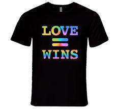 Love Wins Love Equals Win LGBT Support T-Shirt Gay Pride Love Wins T Shirt Gay Outfit, Pride Outfit, Pride Merch, Lgbt Support, Gay Pride Shirts, Pansexual Pride, Pride Parade, Gay Art, Saga