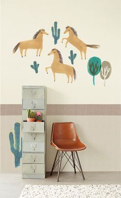 Phrog Designs - Quality Baby and Children's Decor How To Hang Wallpaper, Kids Room Wallpaper, Photo Mural, Forest Wallpaper, Baby Room Decor, Kid Spaces, Kids Playing, Wall Decals, Inspiration