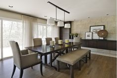 Beautiful Dining Room with Wooden Dining Table