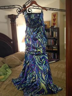 Gorgeous and Colorful Blondie by Stacy Sklar Evening Gown - Sz 5
