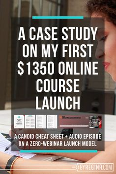 A candid course launch case study on creating $1350 in income with an email list of only 71 people.