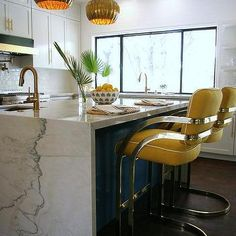 Macauba Quartzite Waterfall Countertop