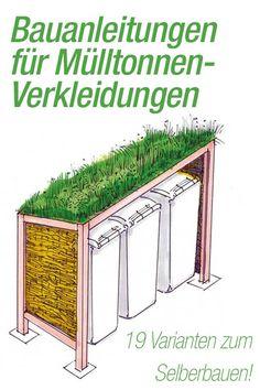 Bei selbst.de findest Du viele kostenlose Bauanleitungen zum Bau von Mülltonnenboxen – damit die grauen Ungetüme aus dem Blickfeld verschwinden!