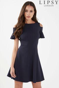 d899985de4ec Buy Lipsy Cold Shoulder Skater Dress from the Next UK online shop Fit Flare  Dress