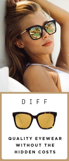Shop DIFFs fashionable handcrafted designer sunglasses with a buy one give one charity mission DIFF Eyewear donates one pair of glasses for every pair sold Jimmy Choo, Ysl, Mirrored Sunglasses, Sunglasses Women, Fendi, Ray Bans, Fitbit, Fashion Eye Glasses, Streetwear