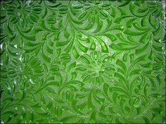 Green Floral Glass by Pareeerica