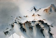 Nadia Tognazzo Watercolor  She is a real talent when it comes to painting Mountains!