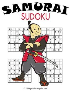 Browse our collection of free, printable samurai sudoku. With their huge grids, just one of these puzzles can give you hours of enjoyment. Sudoku Puzzles, Number Puzzles, Word Puzzles, Samurai, Free Printable Puzzles, Math Activities For Kids, Train Your Brain, Fun Learning, Art Lessons