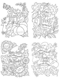 Grateful Heart series of four coloring pages in two sizes: and Bible journaling tip-in idee di Tatuaggio Kawaii 💫 Farm Animal Coloring Pages, Fall Coloring Pages, Cat Coloring Page, Coloring Books, Leaf Coloring, Coloring Sheets, Bible Verse Coloring Page, Free Adult Coloring, Christian Artwork