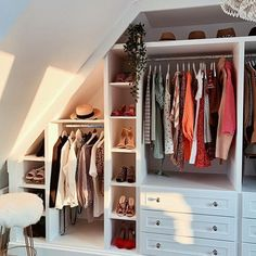 [New] The 10 Best Home Decor (with Pictures) - Serious wardrobe envy from Attic Bedroom Closets, Attic Bedroom Storage, Attic Bedroom Small, Attic Bedroom Designs, Attic Closet, Bedroom Closet Design, Loft Storage, Attic Rooms, Closet Designs