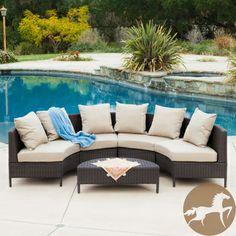 Christopher Knight Home Newton Outdoor 5-piece Dark Brown Wicker Lounge Set. $1068