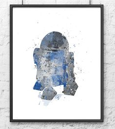 Star Wars Watercolor R2D2 poster Star Wars Poster by gingerkidsart